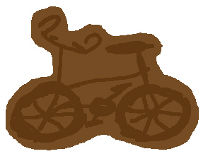 a lovely chocolate bike